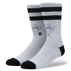 STANCE classic crew height Live Bait gray socks